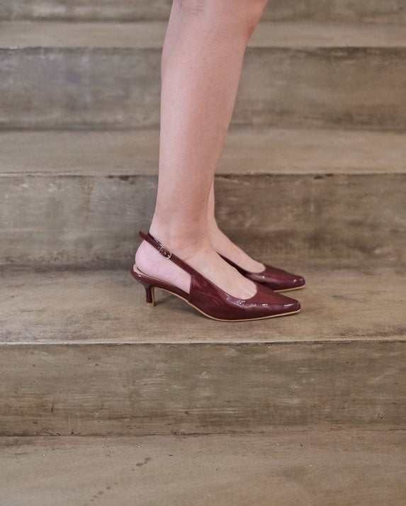 Aphrodite Heels in Wine Burgundy