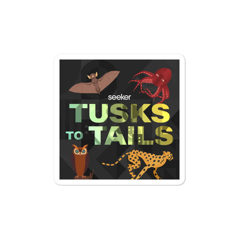 Tusks to Tails Sticker
