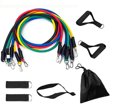 NuvoFit™️ Pro 11pc Resistance Bands whats in the package