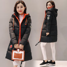 Load image into Gallery viewer, Parka Women 2019 New Winter Down jacket Women Coat Long Hooded Outwear Female Parka Thick Cotton Padded Female Basic Coats LU666