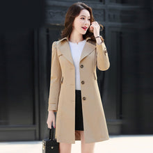 Load image into Gallery viewer, Spring Autumn Trench Coat Slim Single Breasted Trench Coat  Woman Trench Coat Long Women Windbreakers Plus Size Overcoat Femmino
