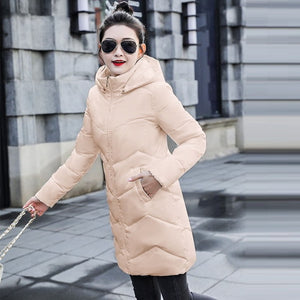 7XL Large Size Women Winter Coat Big Fur Down Parka Winter Hooded Coat Female Slim Winter jacket for Women Warm Long Outerwear