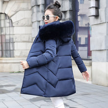 Load image into Gallery viewer, 7XL Large Size Women Winter Coat Big Fur Down Parka Winter Hooded Coat Female Slim Winter jacket for Women Warm Long Outerwear