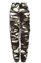 Load image into Gallery viewer, Gothic Modis Women Camouflage Trousers Military Casual Pants Hip Hop Cargo Army Combat High Waist Jeans Female Camouflage Pants