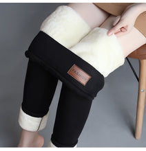 Load image into Gallery viewer, Woman Lamb Down Hit Velvet Pant Leggings Knicker Girl Winter Thickening Clothes Trousers Female High Keep Warm Pencil Pants