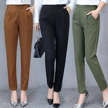 Load image into Gallery viewer, Women Autumn Pants Ankle Pants Female Slim Drape Casual Pants Comfortable and Smooth Trousers GDD99
