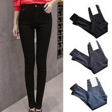 Load image into Gallery viewer, Newly Women High Waist Thermal Jeans Fleece Lined Denim Pants Stretchy Trousers Skinny Pants  DOD886