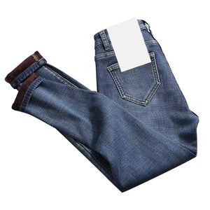 Newly Women High Waist Thermal Jeans Fleece Lined Denim Pants Stretchy Trousers Skinny Pants  DOD886
