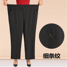 Load image into Gallery viewer, Plus Size 7XL 8XL Women Winter Thick Warm Pants Autumn Casual High Waist Elastic Straight Pants 2020 Middle-age Loose Trousers