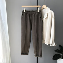 Load image into Gallery viewer, HXJJP  Winter Thicken Women Pencil Pants Plus Size Wool Pants Female 2019 Autumn High Waist Loose Trousers Capris Good Fabric