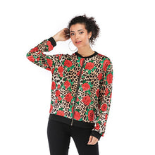 Load image into Gallery viewer, Floral Printed Spring Women's Jackets Plus Size Short Female Coat Zipper Chaqueta Long Sleeve Women Bomber Jacket
