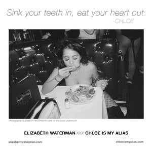 ELIZABETH WATERMAN xx CHLOE IS MY ALIAS: Collaborative Poster