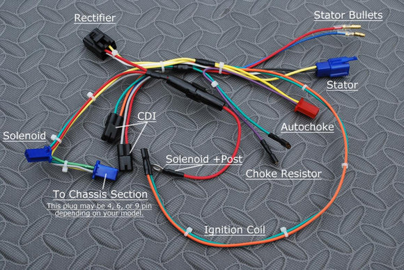 ENGINE WIRING HARNESS FOR YERF DOG GX150