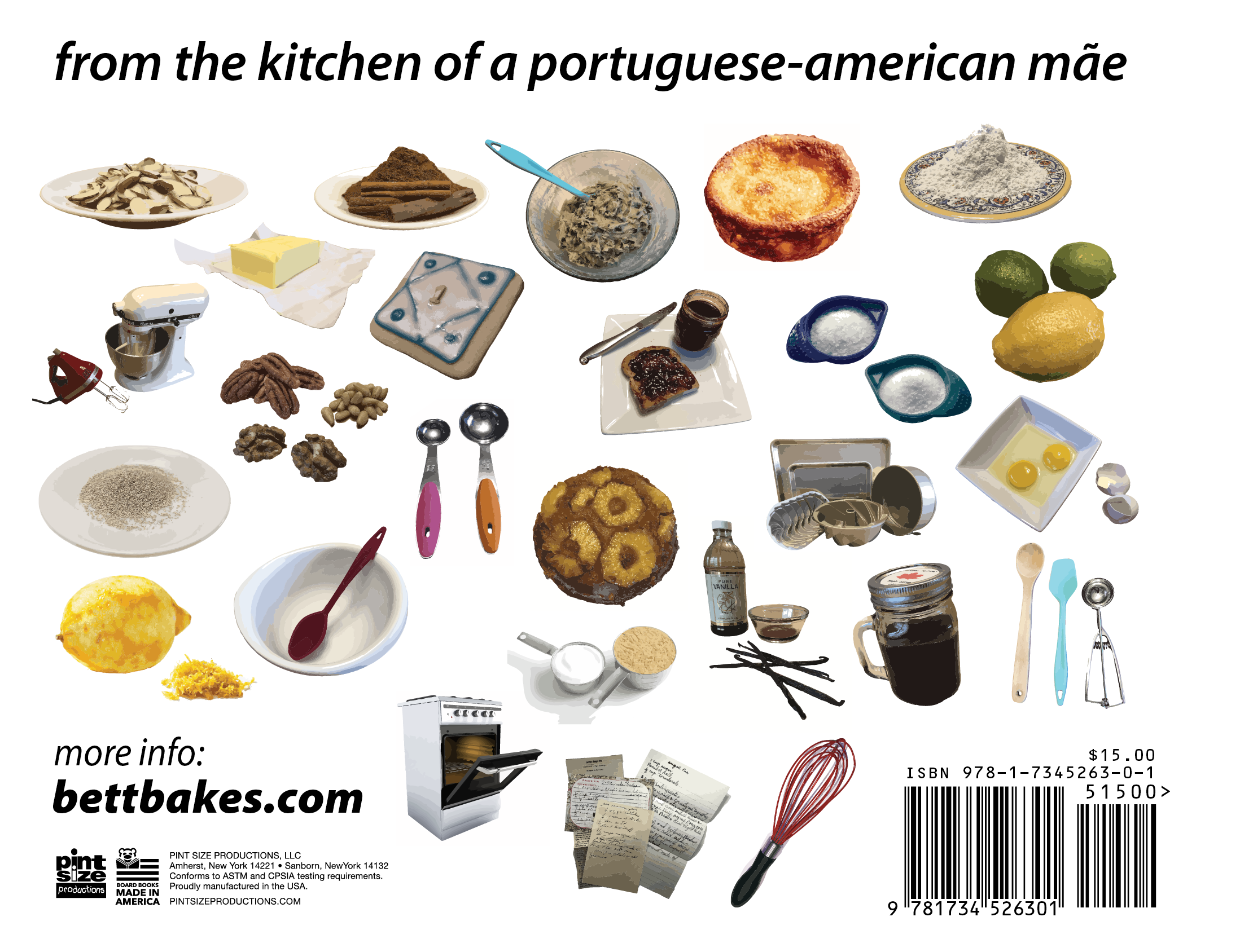 Bilingual Portuguese Children's Book Baking ABC Back