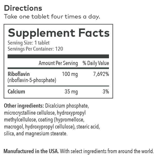B2 Supplement Label