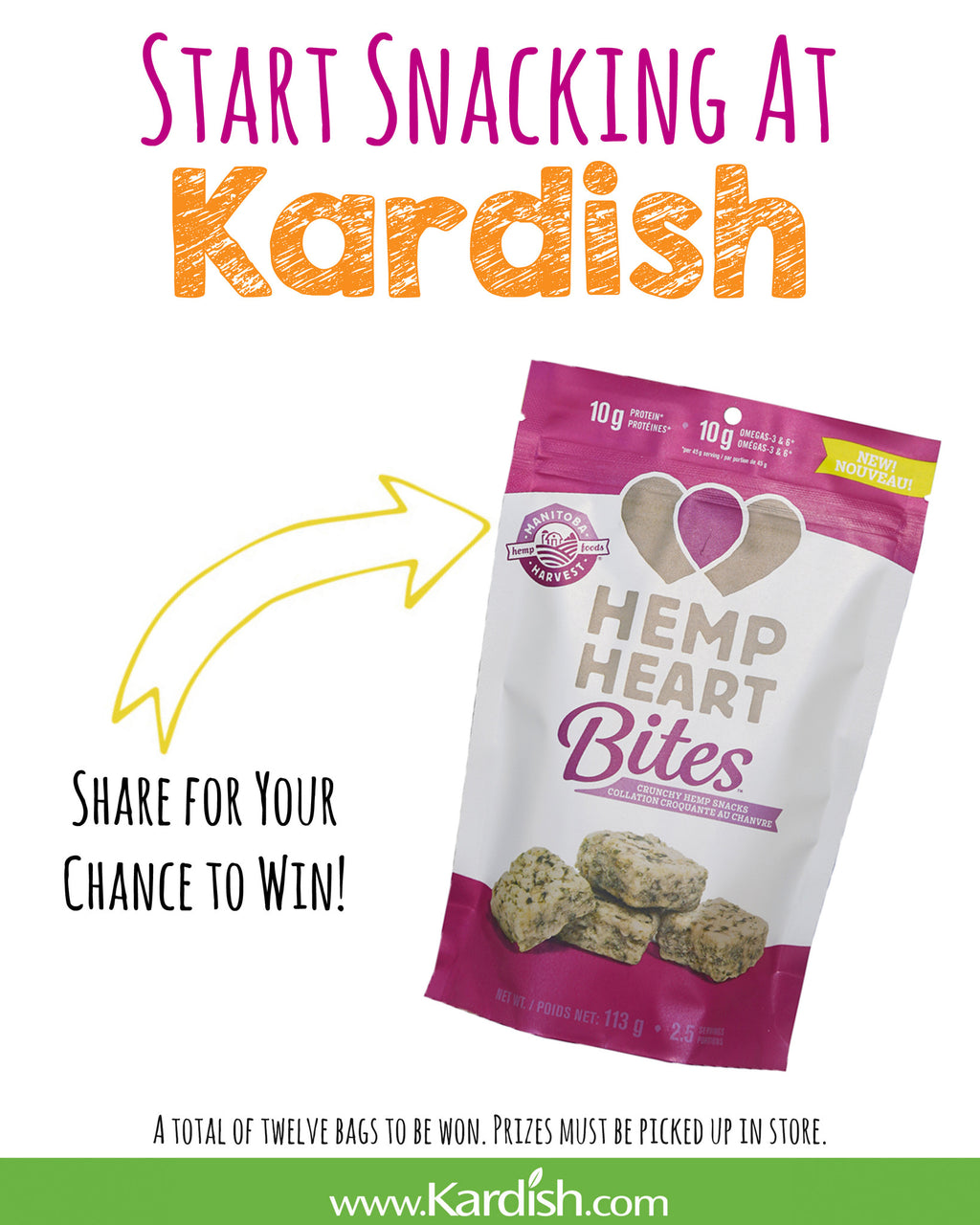 Facebook Contest: Start Snacking at Kardish
