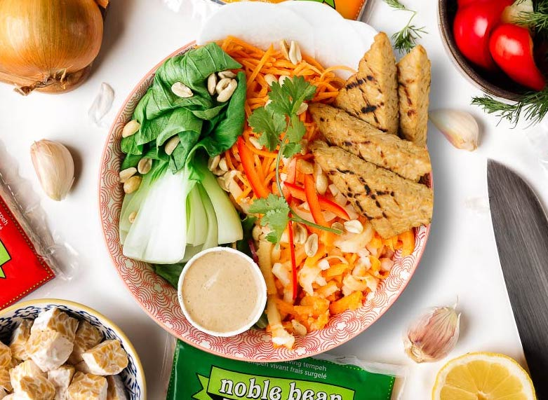 Easy Marinated Tempeh by Noble Bean