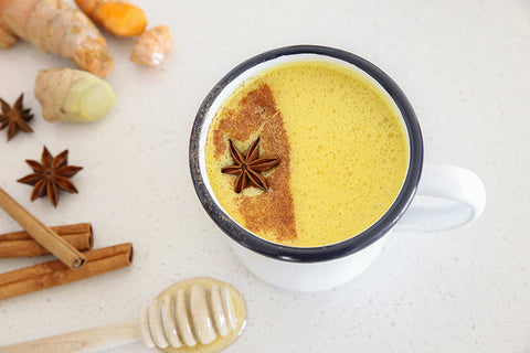 A Turmeric Latte with added honey and cinnamon for extra immunity-boosting properties.