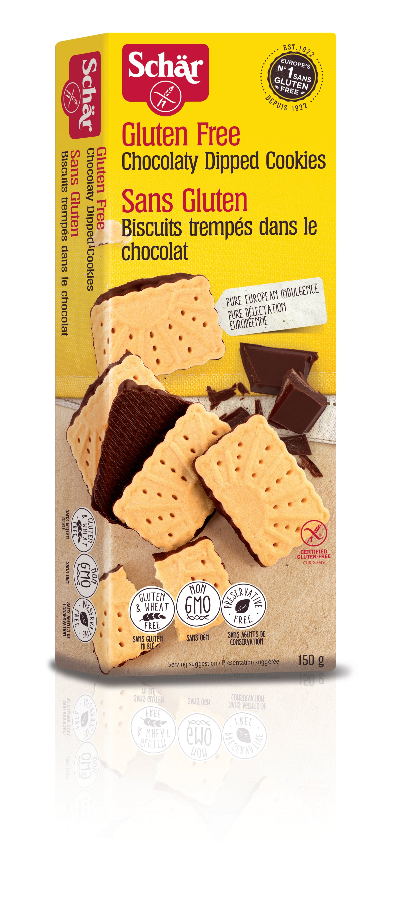 Schar Cookies Chocolaty Dipped