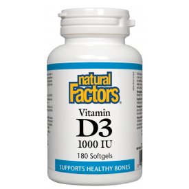 Natural Factors Vitamin D3 1 000IU