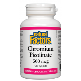 Natural Factors Chromium Picolinate 500mcg