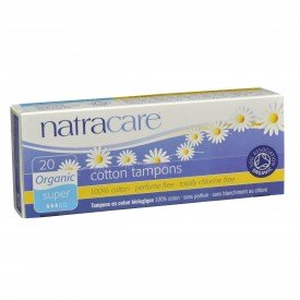 Natracare Tampons Super Non-Applicator  Org.