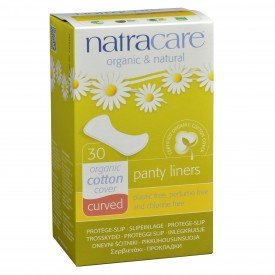 Natracare Panty Liners Natural Curved Org.