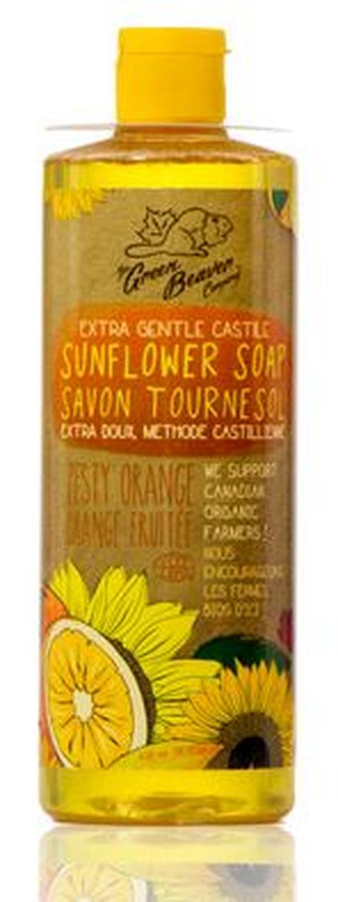 Green Beaver Sunflower Castile Soap Zesty Orange