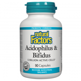 Natural Factors Acidophilus/Bifidus 5 Billion Active Cells