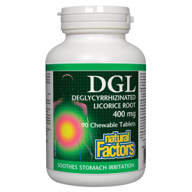 Natural Factors DGL-Deglycrrhizinated Licorice Root