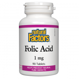 Natural Factors Folic Acid 1mg