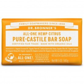 Dr Bronners Organic Orange Pure Castile Soap Bar