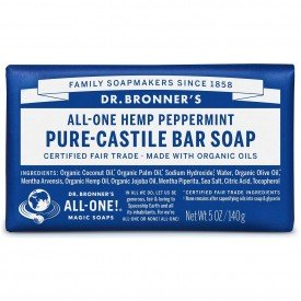 Dr Bronners Organic Peppermint Pure Castile Soap Bar