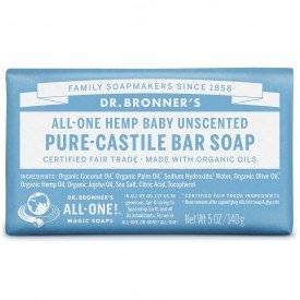 Dr Bronners Castile Soap Bar Pure Baby Mild Org.