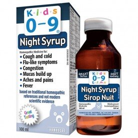 Homeocan Kids 0-9 Nighttime Cough & Cold Syrup