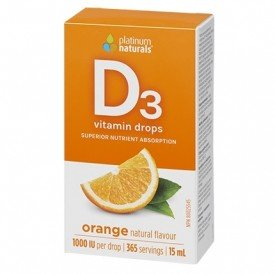 Platinum Naturals Delicious D Vitamin D3 Drops Orange