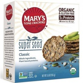 Marys Organics Gluten Free Super Seed Crackers