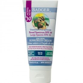 Badger Active SPF 30 Sunscreen Cream Unscented