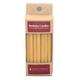 Honey Candles Ltd Pure Beeswax Birthday Candles 20Pack