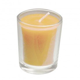 Honey Candles Ltd Pure Beeswax T-Lite Candle Clear Cup