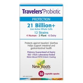 New Roots Travelers Probiotic 21 billion
