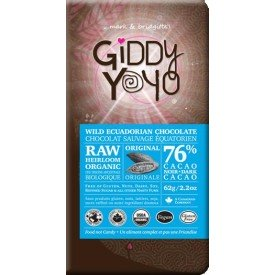 Giddy Yoyo 76% Dark Chocolate Bar Original Org.