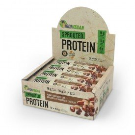 Iron Vegan Sprouted Bar Peanut Chocolate Chip
