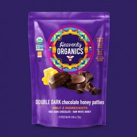 Heavenly Organics Honey Patties Double Dark Chocolate