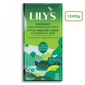 Lilys Dark Chocolate Bar Coconut