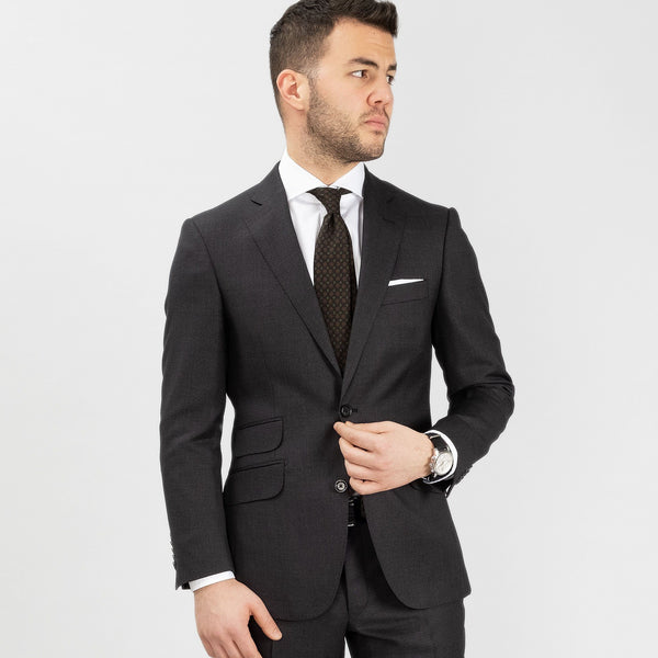 Suit Super 130s - Birdseye Grey