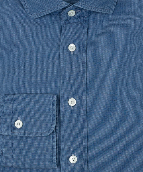Casual Washed Jeans Shirt/