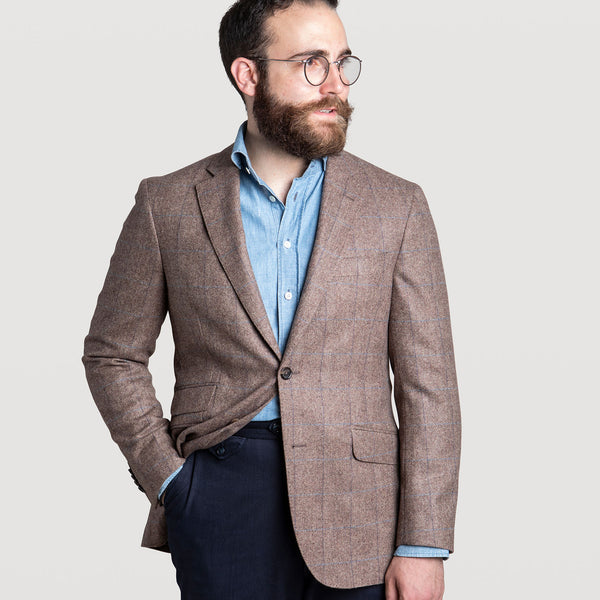 Checked Herringbone Jacket