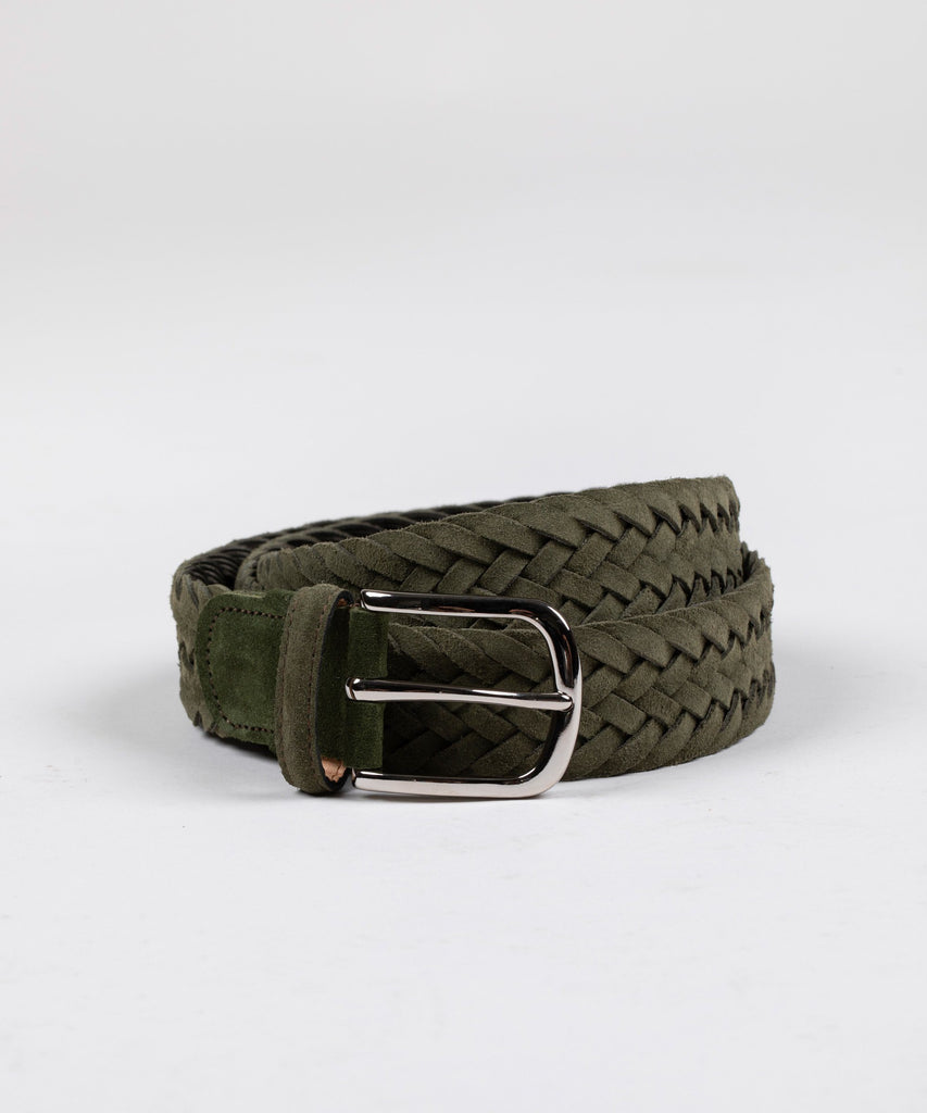 Classic Woven Suede Belt