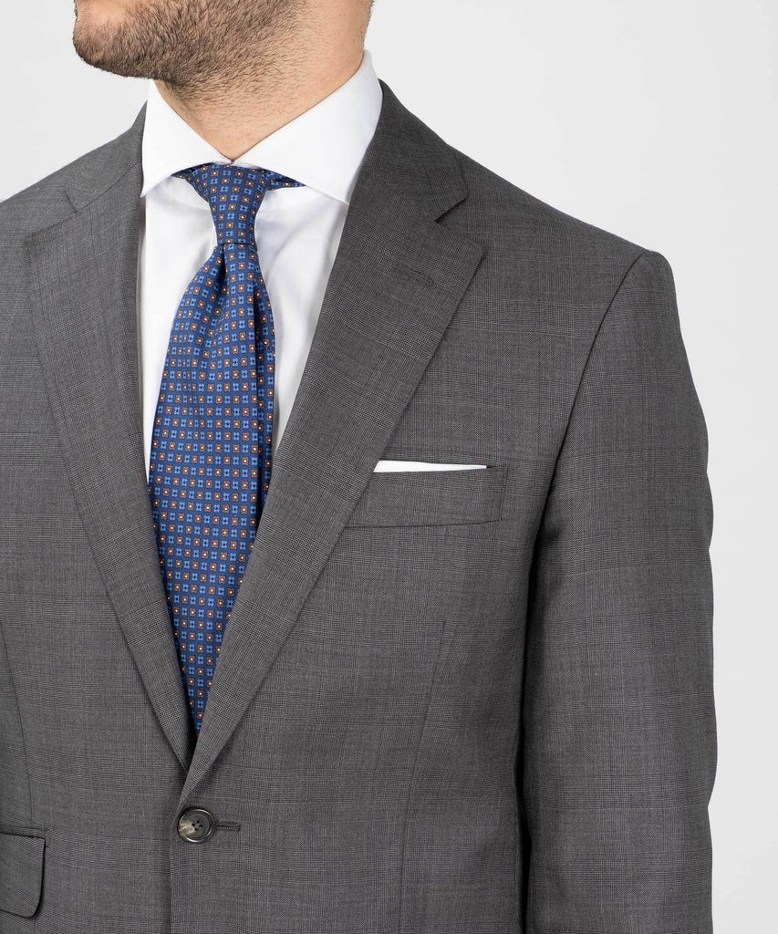 Suit Loro Piana - Glen Plaid Grey